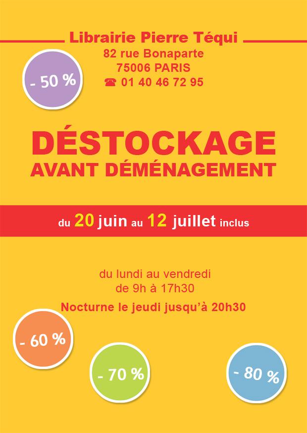 0c25486345014c Jeudi prochain, le 20 juin, commence un grand déstockage à la librairie  Pierre Téqui !
