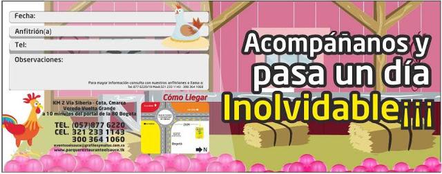 Invitacion editable granero rosado paquetes fiesta cumpleaños Bogota