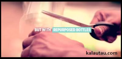 kalautau.com - Cara Membuat AC Tanpa listrik dari botol bekas, langkah 2