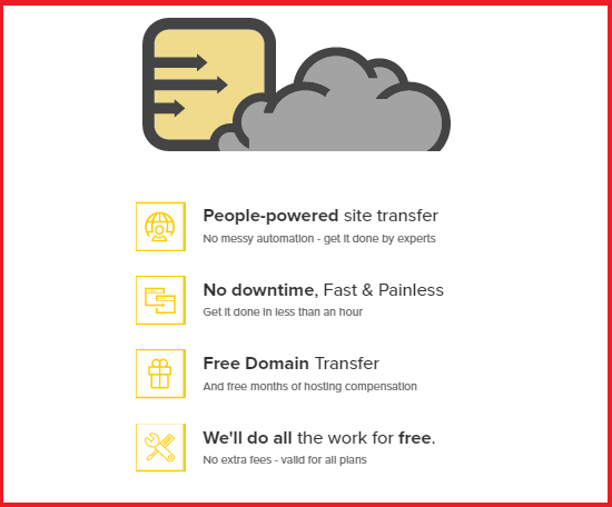 FastComet, Transfer Hosting