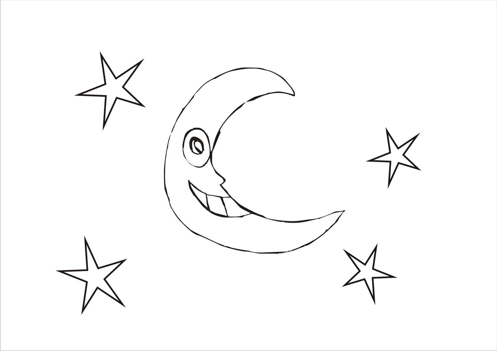 Desenhos Para Colorir Desenho Para Colorir De Lua Desenhos De
