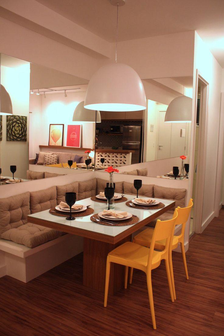 Decora o 10 salas de jantar com espelhos jeito de for Decoracion de interiores a distancia
