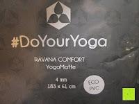 """Zettel: Yogamatte """"Ravana"""" Die ideale Yoga- und Gymnastikmatte für Yoga-Einsteiger. Maße: 183 x 61 x 0,4cm / Tribal Center"""