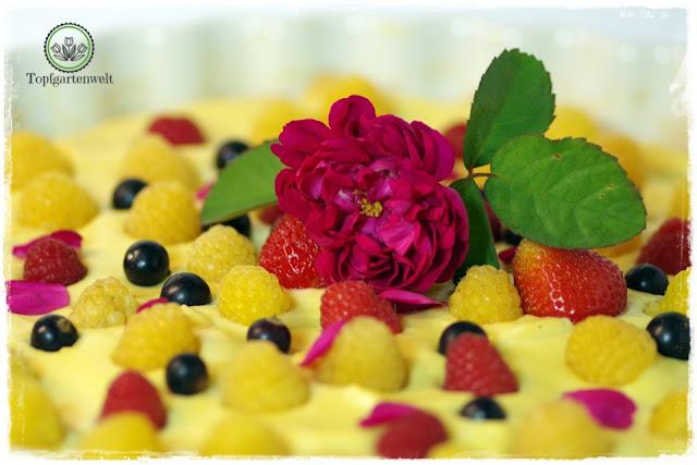 Rosentarte aus Duftrosen selber machen - Foodblog Topfgartenwelt