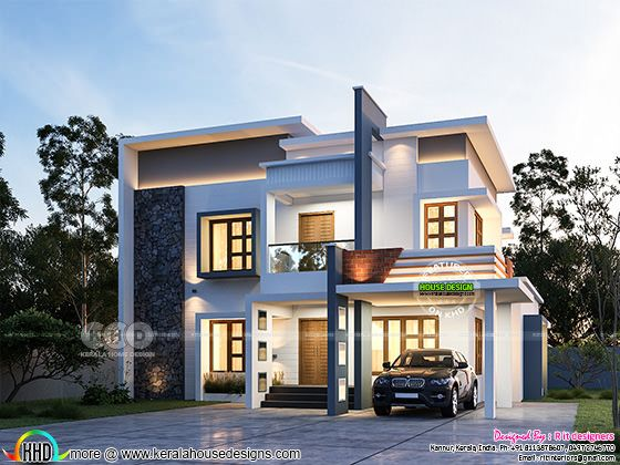 Front rendering of beautiful modern house