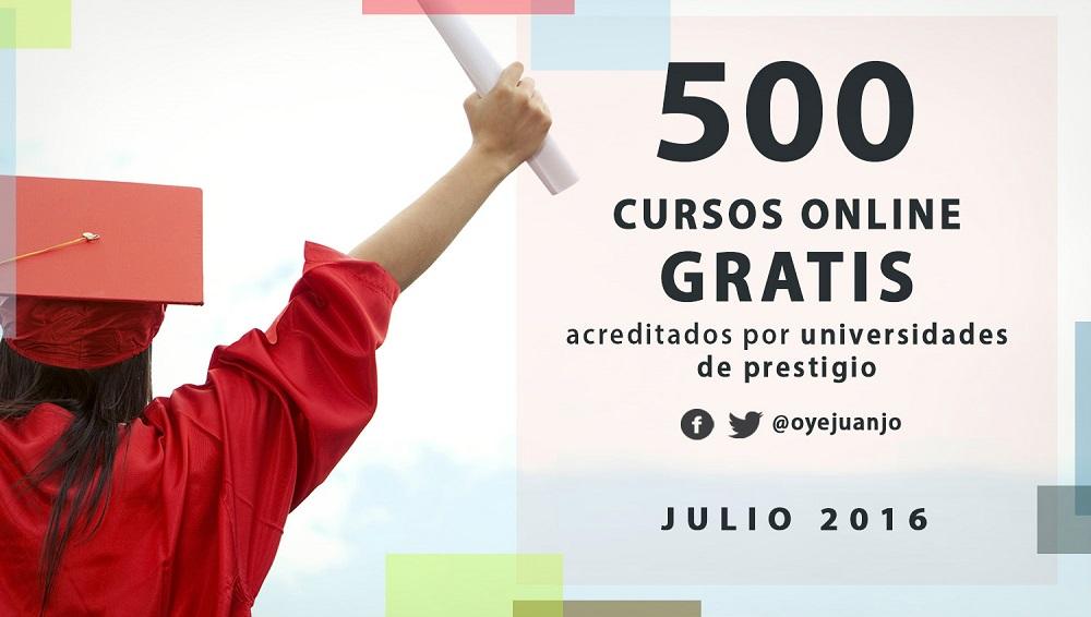 500 cursos online gratis acreditados por universidades (julio 2016 ...