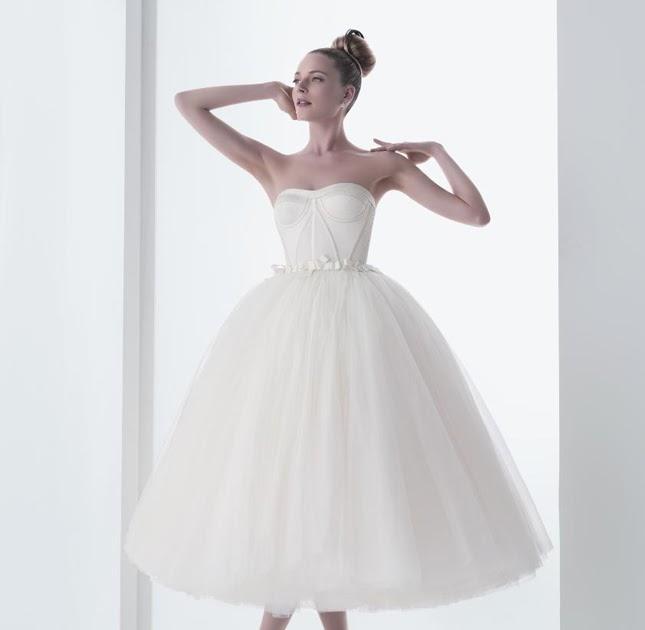 {Wedding Trends} : Tea-Length Bridal Gowns