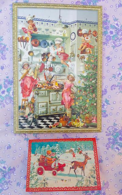 vintage advent calendars