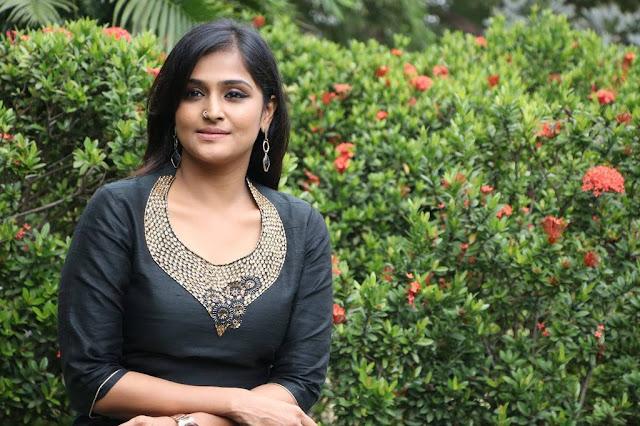 Remya Nambeesan Stills At Sathya Movie Success Meet