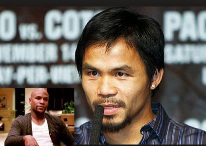 Pacquiao questions Mayweather's manhood, proposes charity fight