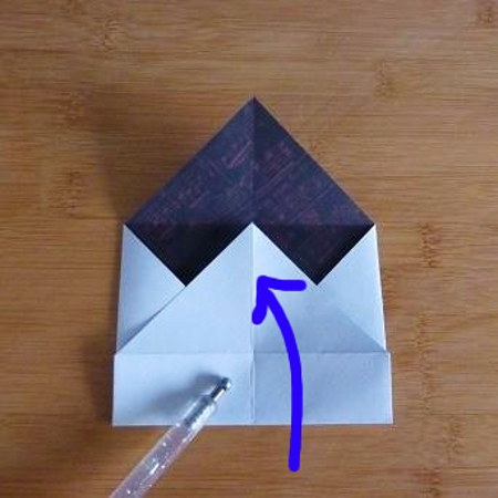 Folding a special origami envelope from double sided white and red paper