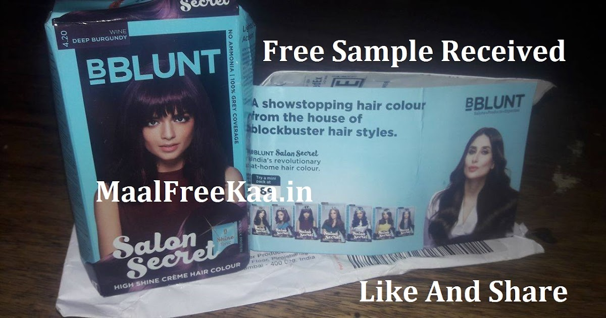 Free Hair Color Samples By Mail