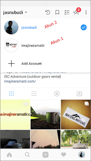 "5. Pilih ""Add Account"". Maka akan tampil halaman log in aplikasi Instagram."