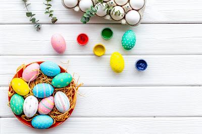 Wielkanocne kolorowe jajka