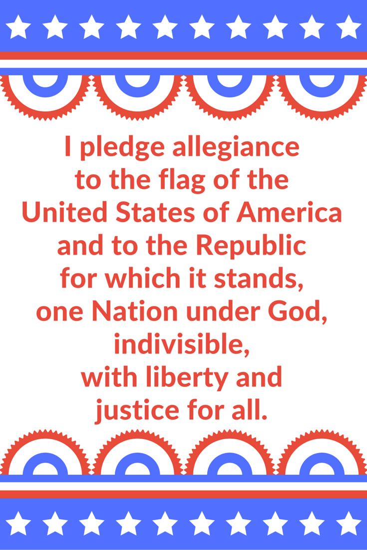 image about Pledge of Allegiance Printable known as Solar and Spoons: Pledge of Allegiance Printable