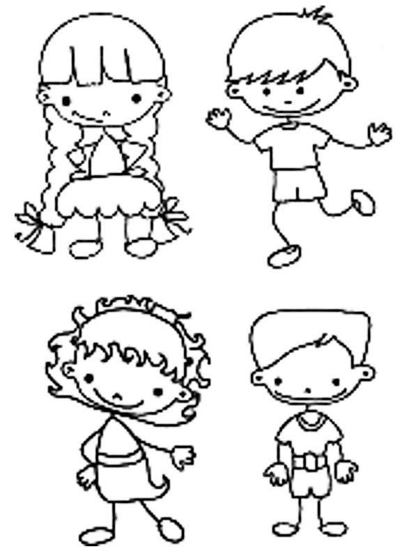 Desenho Para Colorir De Meninos