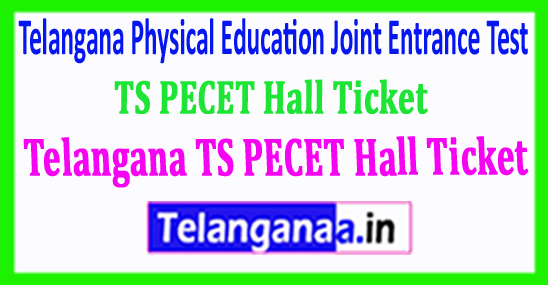 Telangana TS PECET HallTicket TSPECET 2018 Hall Ticket Download