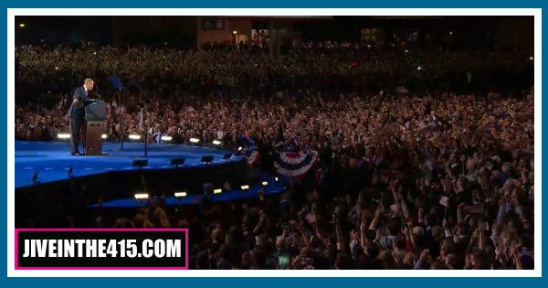 The large crowd in Chicago 11/07/2012.