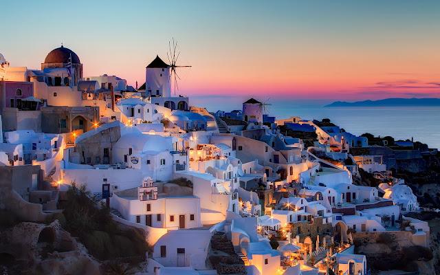 Atardecer en Santorini, Grecia