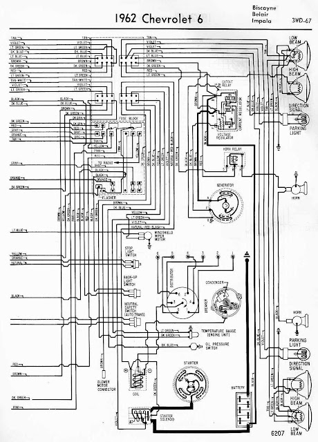 electrical wiring diagram of 1962 chevrolet 6 | all about ... 283 chevy starter wiring diagram