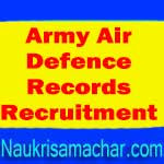Army Air Defence Records Recruitment