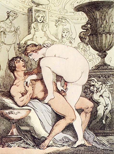 ROWLANDSON - Il moderno Pigmalione - sex art - pornografia