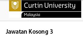 jawatan Kosong Curtin Malaysia