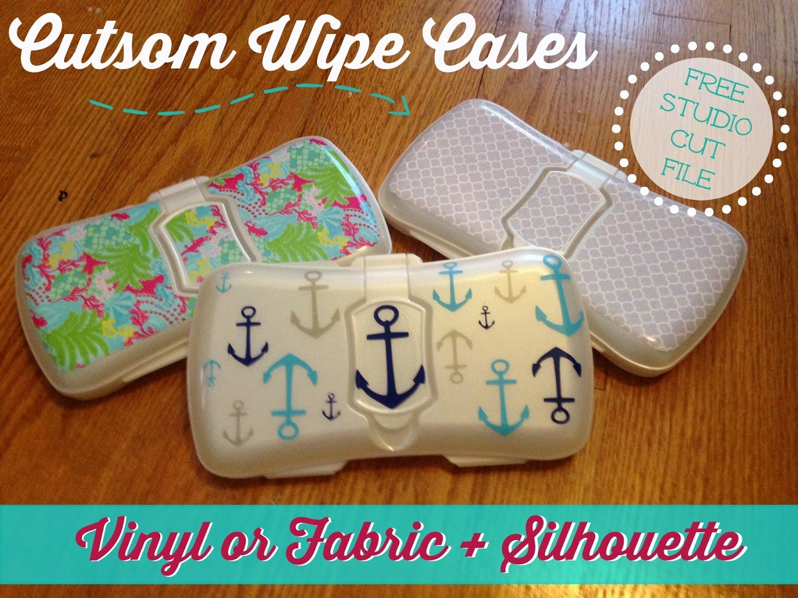 Custom, baby wipe case, Silhouette, Silhouette Studio, free cut file