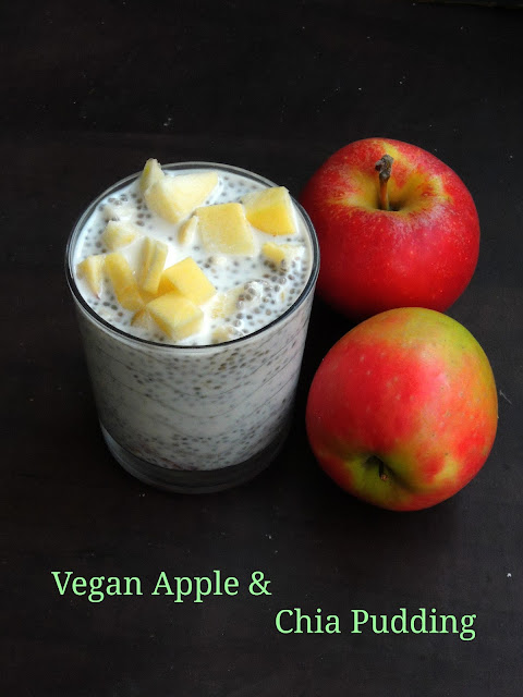 Chia Apple Pudding, Vegan chia pudding