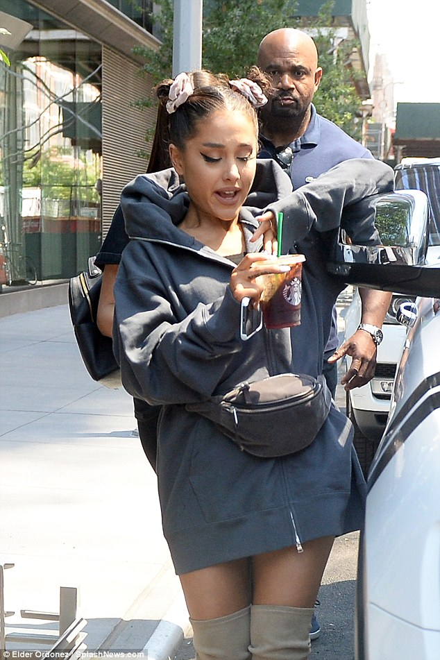 Ariana Grande stuns as she heads to a photoshoot as fiance Pete Davidson steps out to join her