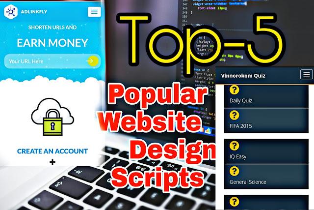 Top 5 Popular Website Design Scripts in 2019