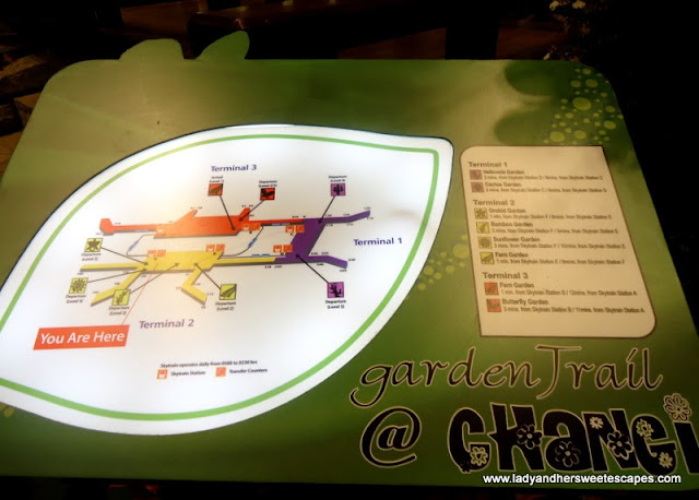 map of Different Gardens in Changi Airport Singapore