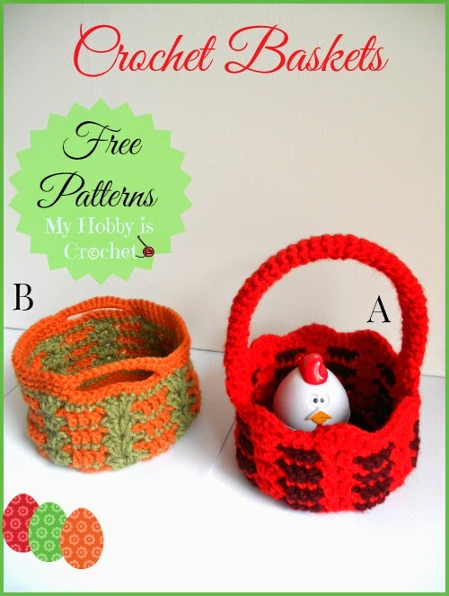 crochet Easter basket free crochet pattern