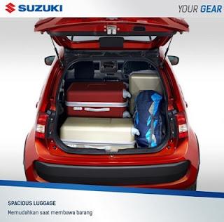bagasi belakang suzuki Ignis
