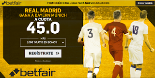 betfair supercuota Real Madrid gana a Bayern 25 abril