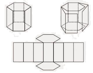 Gambar Jaring-jaring Prisma Segi enam