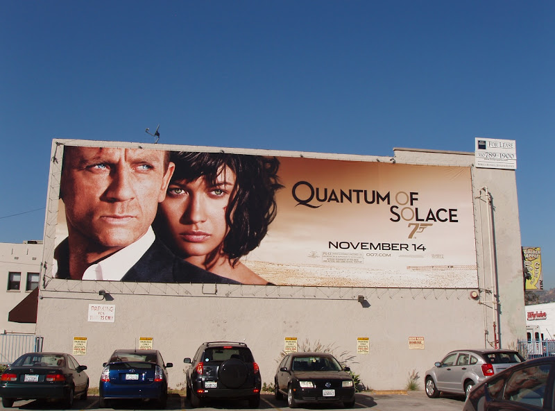 Quantum of Solace 007 movie billboard