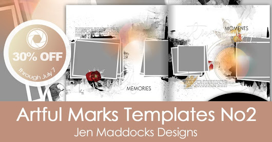 Artful Marks Templates No2 8.5x11 and 12x12 by Jen Maddocks Designs