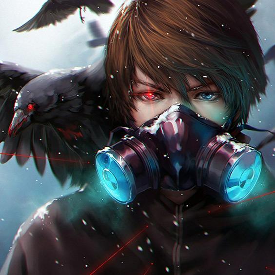 Anime Raven Bird Wallpaper Engine