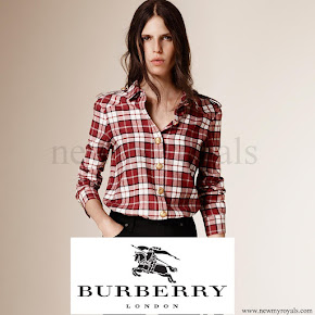 Kate Middleton wore Burberry shirt