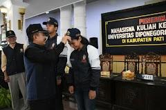 Ratusan Mahasiswa UNDIP Berbondong-bondong Datangi Pati