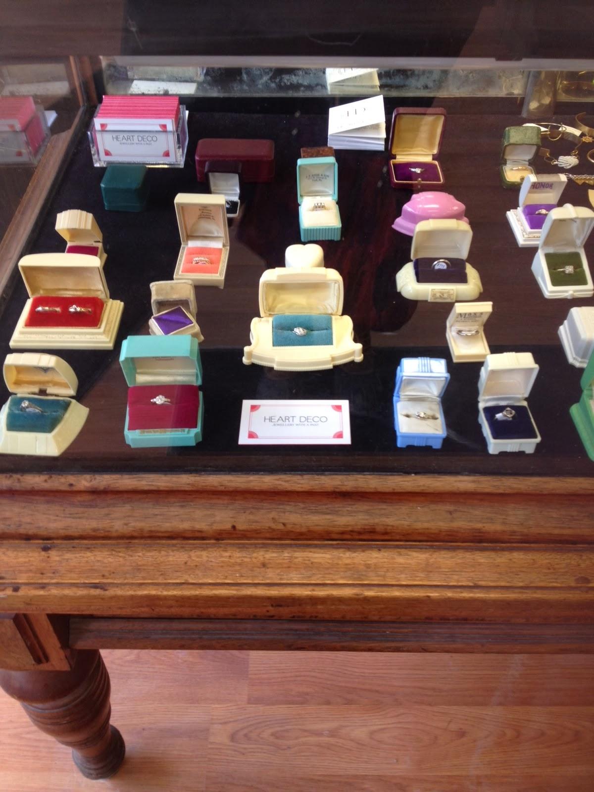Heart Deco Antique Rings at the West Shop – Victoire Boutique