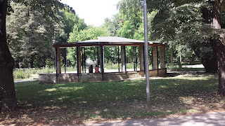 Semi-Circled, Seating Area, Yambol City Park, Yambol,