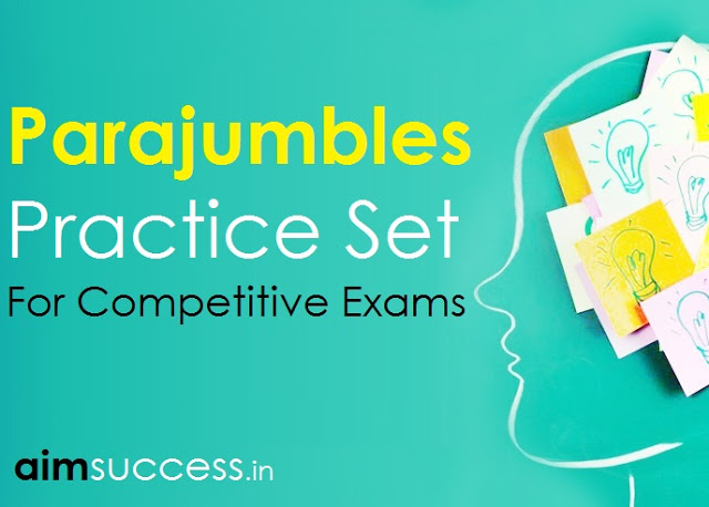 PARA JUMBLE MCQ FOR SBI CLERK