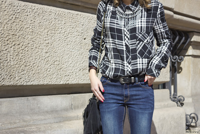 Plaid shirt_layered outfit Maikshine