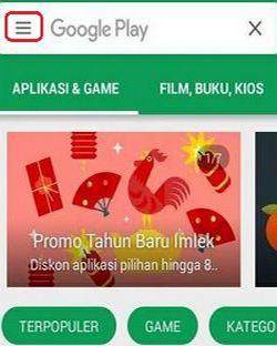 setelan Google Play Store