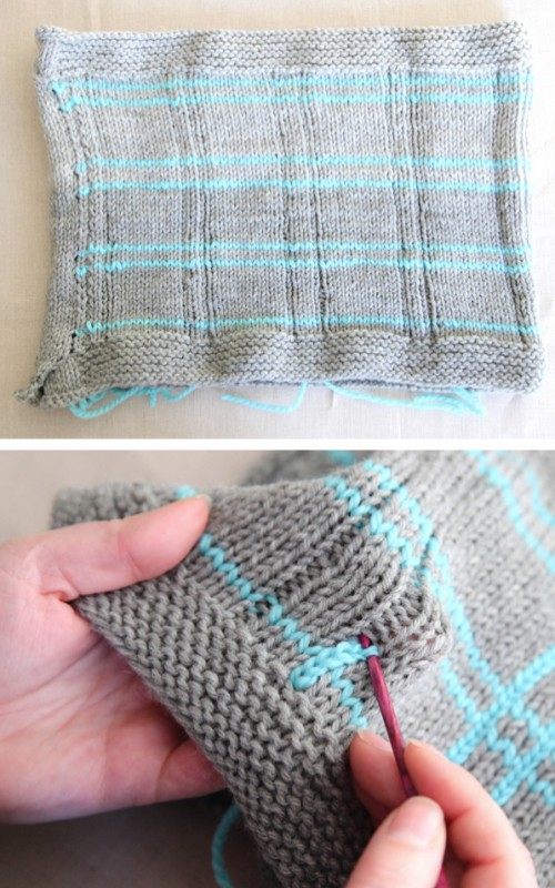 Easy Knitted Plaid - Tutorial