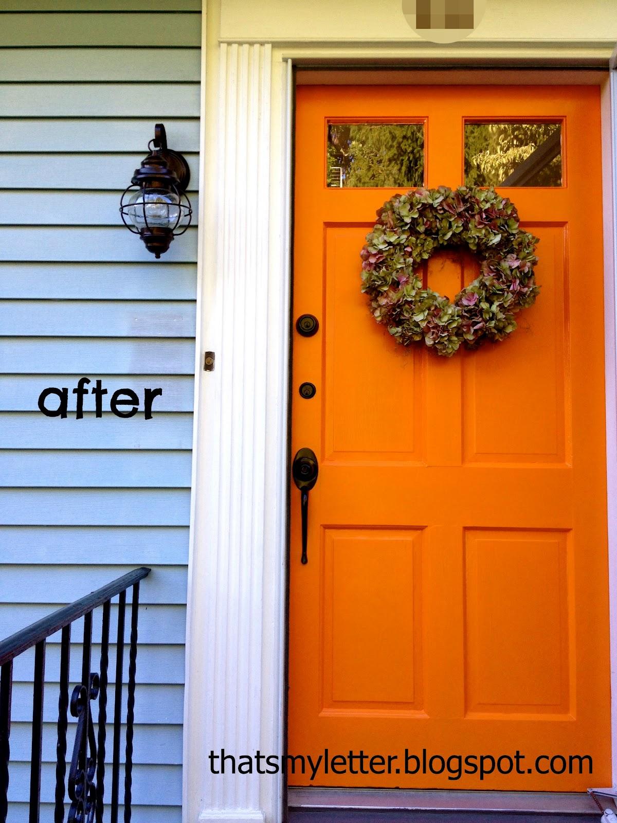 That 39 S My Letter Front Door Makeover