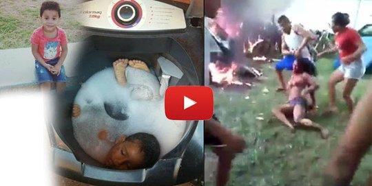 Cewek ini dibakar Hidup Hidup Gara Gara Memasukan Anaknya ke dalam Mesin Cuci