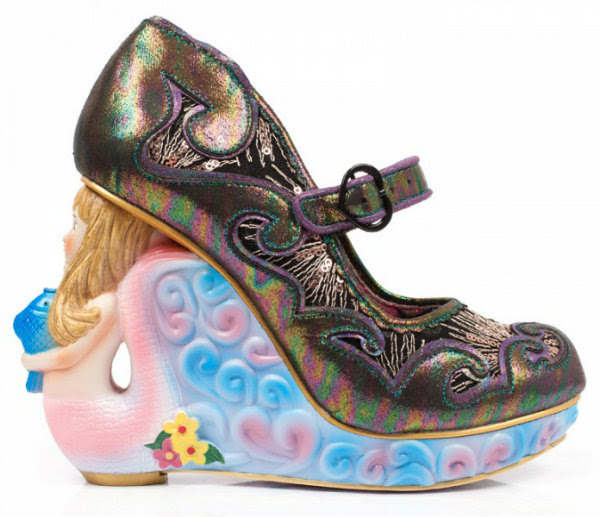 Irregular Choice siren of the sea mermaid black